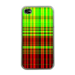 Line Light Neon Red Green Apple iPhone 4 Case (Clear)