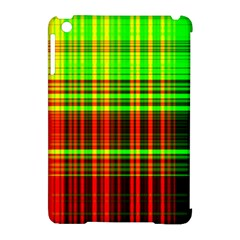 Line Light Neon Red Green Apple iPad Mini Hardshell Case (Compatible with Smart Cover)