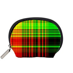 Line Light Neon Red Green Accessory Pouches (Small)