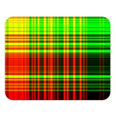 Line Light Neon Red Green Double Sided Flano Blanket (large)