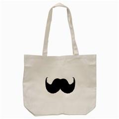 Mustache Owl Hair Black Man Tote Bag (Cream)