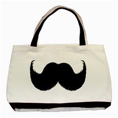 Mustache Owl Hair Black Man Basic Tote Bag (Two Sides)