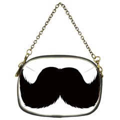 Mustache Owl Hair Black Man Chain Purses (One Side)