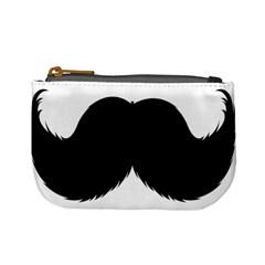 Mustache Owl Hair Black Man Mini Coin Purses