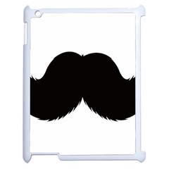 Mustache Owl Hair Black Man Apple iPad 2 Case (White)