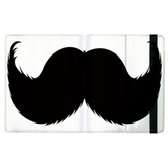 Mustache Owl Hair Black Man Apple iPad 3/4 Flip Case