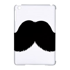 Mustache Owl Hair Black Man Apple iPad Mini Hardshell Case (Compatible with Smart Cover)