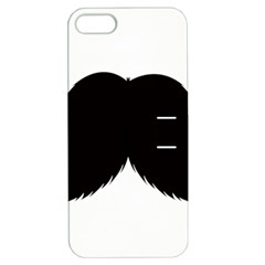 Mustache Owl Hair Black Man Apple iPhone 5 Hardshell Case with Stand