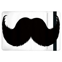 Mustache Owl Hair Black Man iPad Air Flip