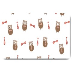 Insulated Owl Tie Bow Scattered Bird Large Doormat