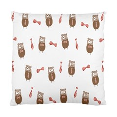 Insulated Owl Tie Bow Scattered Bird Standard Cushion Case (two Sides)