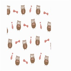 Insulated Owl Tie Bow Scattered Bird Large Garden Flag (Two Sides)