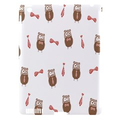 Insulated Owl Tie Bow Scattered Bird Apple iPad 3/4 Hardshell Case (Compatible with Smart Cover)