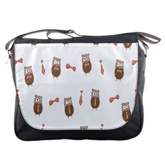 Insulated Owl Tie Bow Scattered Bird Messenger Bags