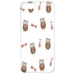 Insulated Owl Tie Bow Scattered Bird Apple iPhone 5 Classic Hardshell Case