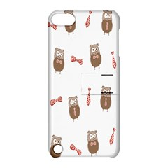Insulated Owl Tie Bow Scattered Bird Apple iPod Touch 5 Hardshell Case with Stand