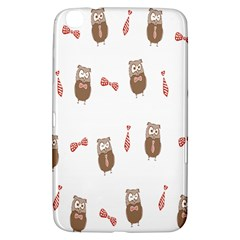 Insulated Owl Tie Bow Scattered Bird Samsung Galaxy Tab 3 (8 ) T3100 Hardshell Case