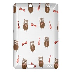 Insulated Owl Tie Bow Scattered Bird Amazon Kindle Fire Hd (2013) Hardshell Case