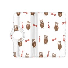 Insulated Owl Tie Bow Scattered Bird Kindle Fire HDX 8.9  Flip 360 Case