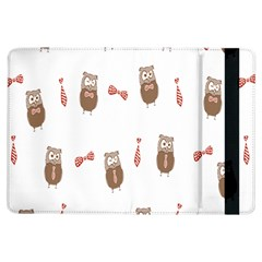 Insulated Owl Tie Bow Scattered Bird iPad Air Flip