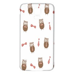 Insulated Owl Tie Bow Scattered Bird Samsung Galaxy S5 Back Case (White)