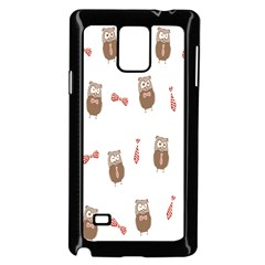 Insulated Owl Tie Bow Scattered Bird Samsung Galaxy Note 4 Case (black)