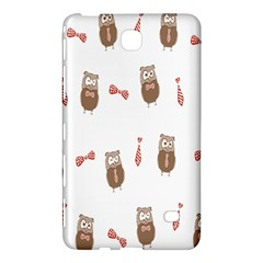 Insulated Owl Tie Bow Scattered Bird Samsung Galaxy Tab 4 (7 ) Hardshell Case