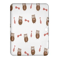 Insulated Owl Tie Bow Scattered Bird Samsung Galaxy Tab 4 (10.1 ) Hardshell Case