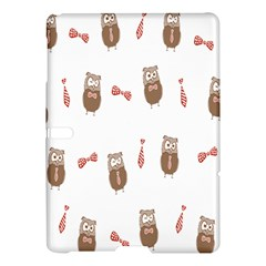 Insulated Owl Tie Bow Scattered Bird Samsung Galaxy Tab S (10.5 ) Hardshell Case