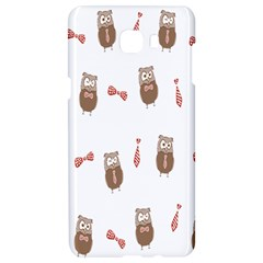 Insulated Owl Tie Bow Scattered Bird Samsung C9 Pro Hardshell Case