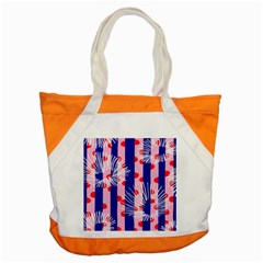 Line Vertical Polka Dots Circle Flower Blue Pink White Accent Tote Bag