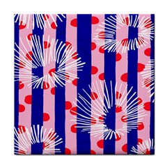 Line Vertical Polka Dots Circle Flower Blue Pink White Face Towel