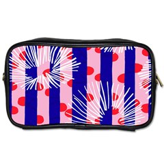 Line Vertical Polka Dots Circle Flower Blue Pink White Toiletries Bags