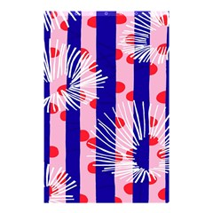 Line Vertical Polka Dots Circle Flower Blue Pink White Shower Curtain 48  x 72  (Small)