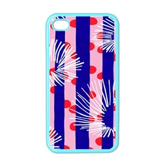Line Vertical Polka Dots Circle Flower Blue Pink White Apple iPhone 4 Case (Color)