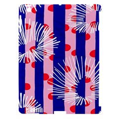 Line Vertical Polka Dots Circle Flower Blue Pink White Apple iPad 3/4 Hardshell Case (Compatible with Smart Cover)