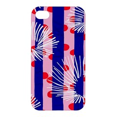 Line Vertical Polka Dots Circle Flower Blue Pink White Apple iPhone 4/4S Premium Hardshell Case