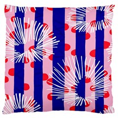 Line Vertical Polka Dots Circle Flower Blue Pink White Large Cushion Case (One Side)