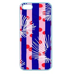 Line Vertical Polka Dots Circle Flower Blue Pink White Apple Seamless iPhone 5 Case (Color)