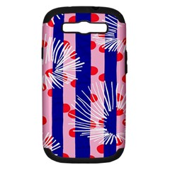 Line Vertical Polka Dots Circle Flower Blue Pink White Samsung Galaxy S III Hardshell Case (PC+Silicone)