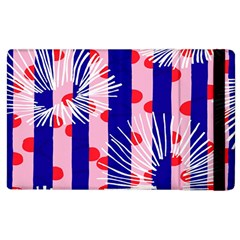 Line Vertical Polka Dots Circle Flower Blue Pink White Apple iPad 3/4 Flip Case