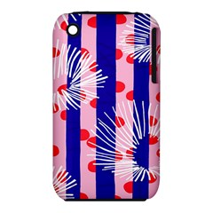 Line Vertical Polka Dots Circle Flower Blue Pink White iPhone 3S/3GS