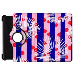 Line Vertical Polka Dots Circle Flower Blue Pink White Kindle Fire HD 7