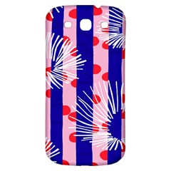 Line Vertical Polka Dots Circle Flower Blue Pink White Samsung Galaxy S3 S III Classic Hardshell Back Case