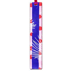 Line Vertical Polka Dots Circle Flower Blue Pink White Large Book Marks