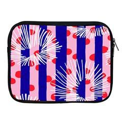 Line Vertical Polka Dots Circle Flower Blue Pink White Apple iPad 2/3/4 Zipper Cases
