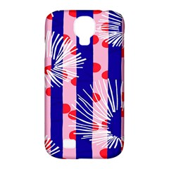 Line Vertical Polka Dots Circle Flower Blue Pink White Samsung Galaxy S4 Classic Hardshell Case (PC+Silicone)