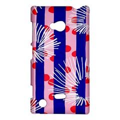 Line Vertical Polka Dots Circle Flower Blue Pink White Nokia Lumia 720