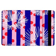 Line Vertical Polka Dots Circle Flower Blue Pink White Ipad Air Flip