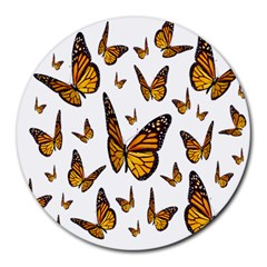 Butterfly Spoonflower Round Mousepads